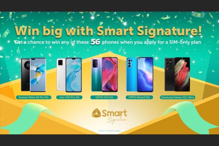 Smart Signature Win a 5G Phone