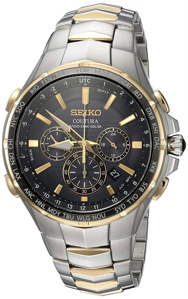 Seiko Men's SSG010 Coutura Analog Display Two-Tone Watch
