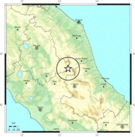 Terremoto in Centro Italia epicentro