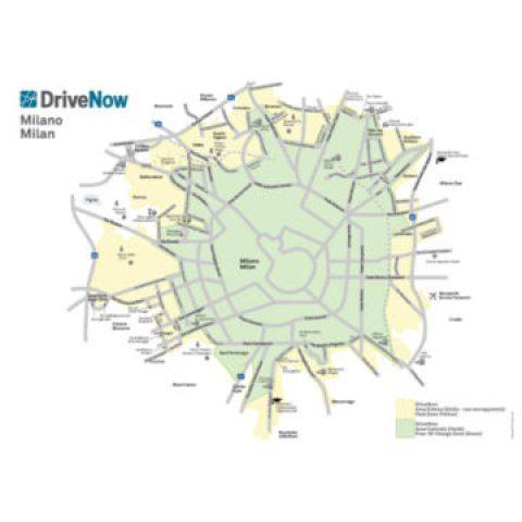 Nell'area verde si parcheggia gratis, nell'area gialla si paga un surplus di 4.90 euro
