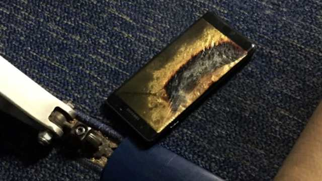 Samsung Galaxy Note 7 in fiamme