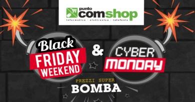 Puntocomshop, prezzi bomba per Black Friday e Cyber Monday