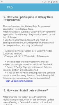 Android Nougat in arrivo in beta test per S7 ed S7 edge