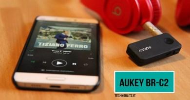 TechnoBlitz.it Aukey BR-C2, ricevitore Bluetooth economico sotto la lente d'ingrandimento