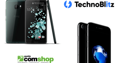 TechnoBlitz.it iPhone 7 128GB Jet Black e HTC U Ultra, le super offerte di Puntocomshop.it