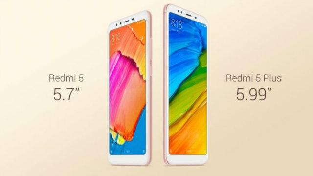 Ecco Xiaomi Redmi 5 e Redmi 5 Plus, quasi bezel-less