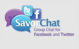 Savor Chat Facebook Twitter