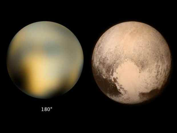 Pluto seen from New horizons