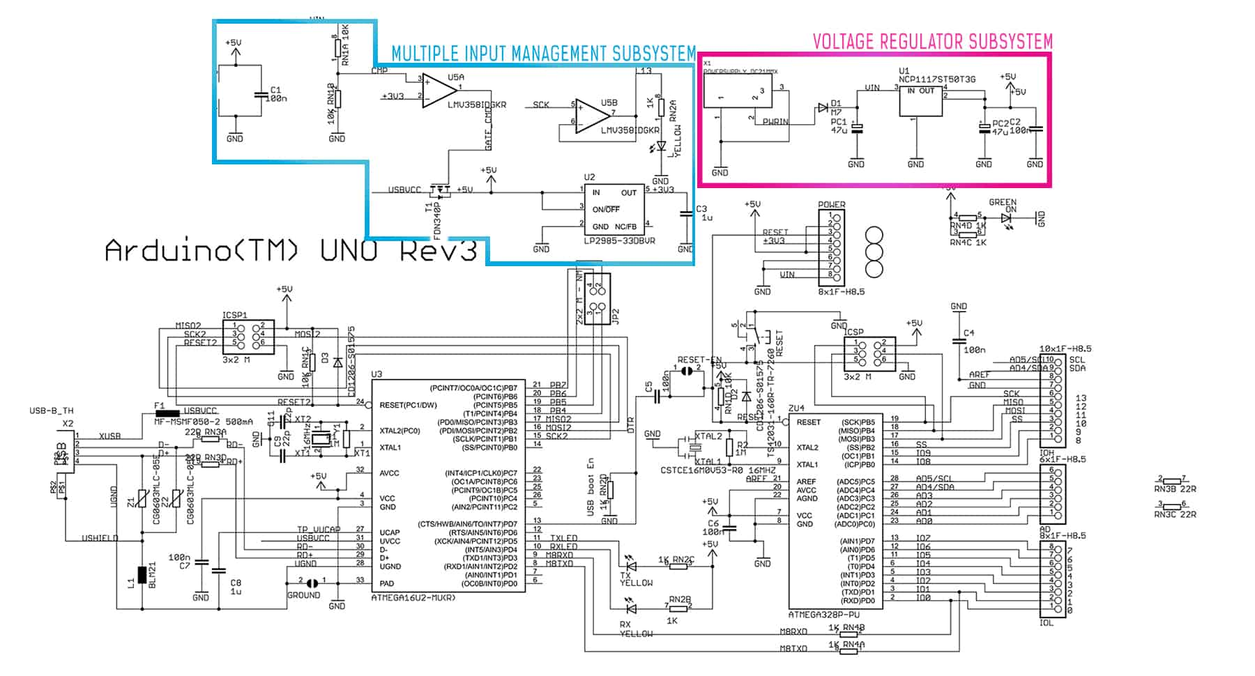 Arduino Uno Power Supply Symmetrical Regulated Schematic Circuits Subsystem Click To Enlarge