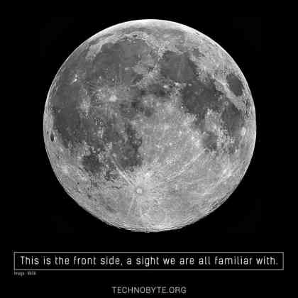 Front side of the moon interesting fact