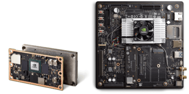 Nvidias Jetson TX2 module plus development board