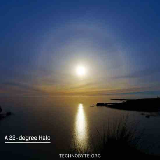 halos - 22 degree or circular halo