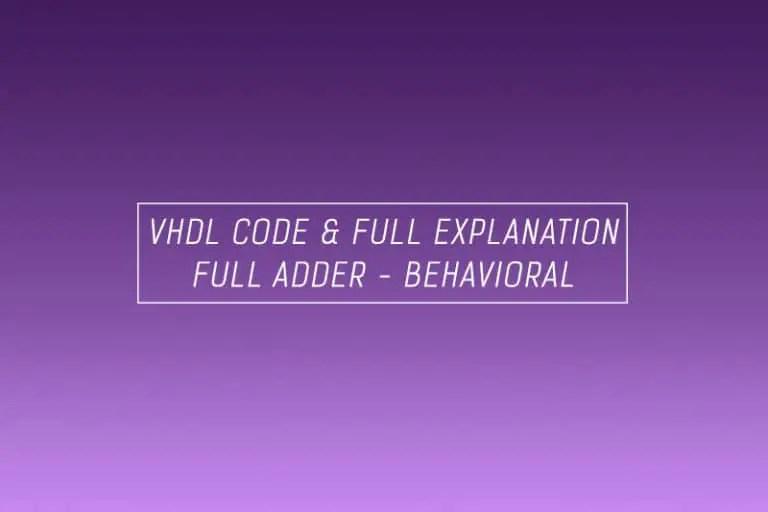 Full Adder Half Adder Realization
