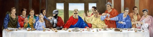 last supper with James Woods and Robocop