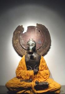 gas mask buddha