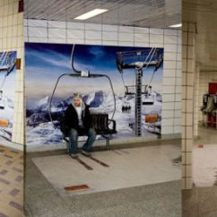 Ski Chair Lift Steel Factory The Top 13 Extraordinary Street Marketing Examples In Subway (photo Gallery)
