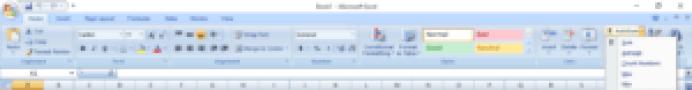AutoSum on Toolbar