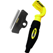laube lazor blade rake qwik handle with 3 carding blade la di