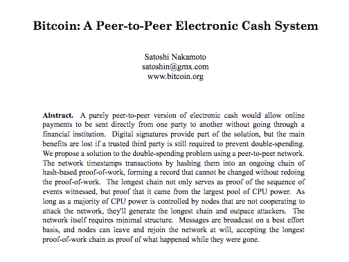 Who owns the Bitcoin white paper?