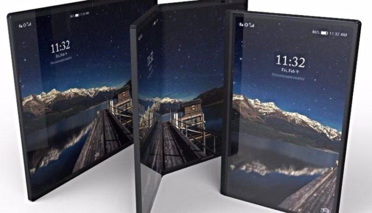 galaxy x 750x430 - سامسونج تستعد لإطلاق جوالها الجديد Galaxy X القابل للطي بثلاث شاشات