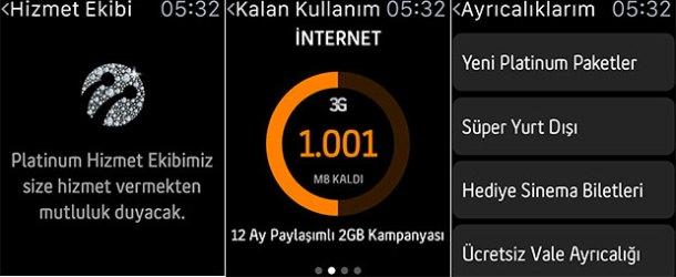 Turkcell Platinum, Apple Watch'ta