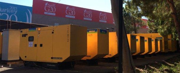 G20 Zirvesi'nin enerjisi Aksa Jeneratör'den