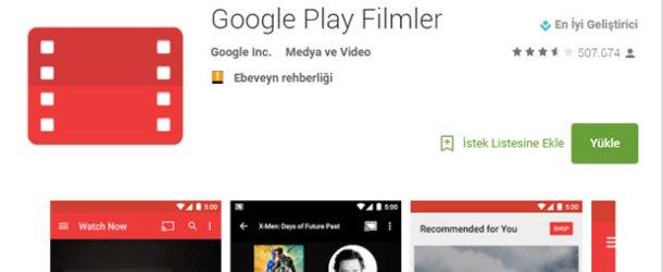 Google'ın film kiralama servisi Google Play Filmler Türkiye'de