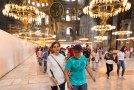 Görme engelli öğrenciler İstanbul'da tarihe dokundu