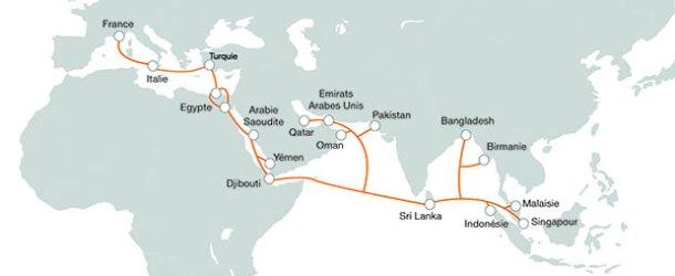 17 ülke denizaltından fiberle bağlandı