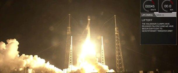 SES-12 uydusu SpaceX Falcon 9 roketiyle fırlatıldı