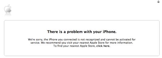 Department of Alarming iPhone Error Messages
