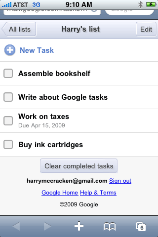 Google Tasks for iPhone