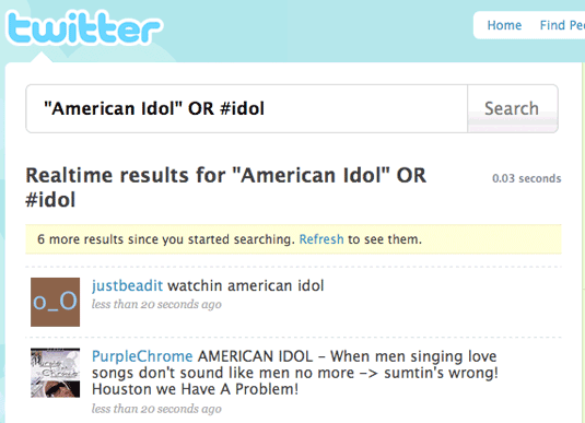 Twitter Idol