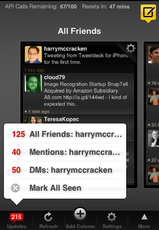 TweetDeck Status Messages