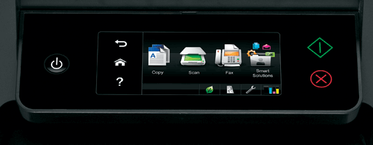 Lexmark touchscreen