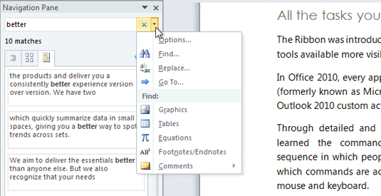 Office 2010 Search