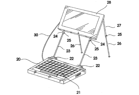 Laptop with supports