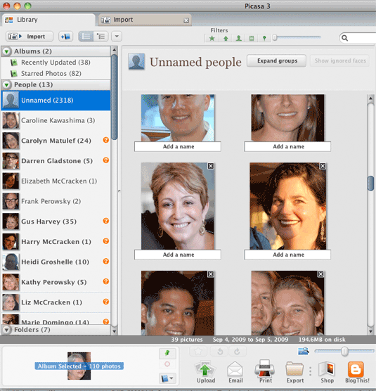 Picasa Face Recognition
