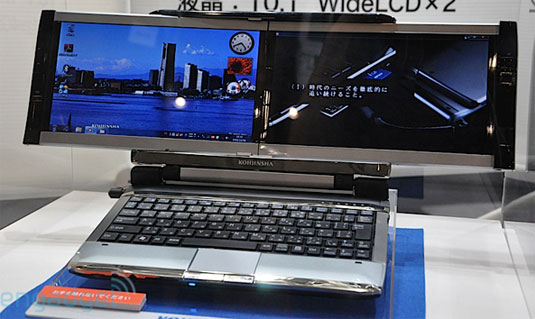 Two-Screen Netbook
