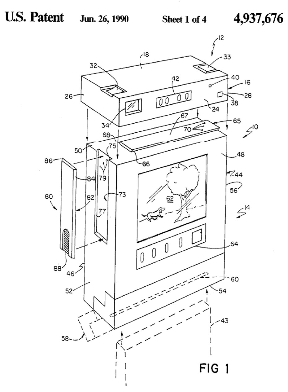 Polaroid camera/printer patent