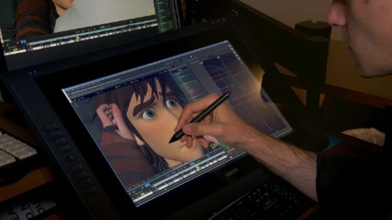 A DreamWorks artist works on How to Train Your Dragon 2 using Premo