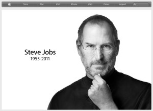 Apple's tribute to Steve Jobs