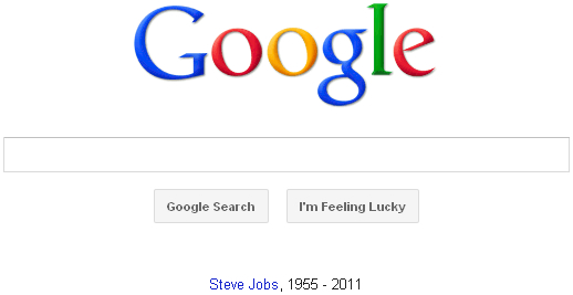 Google's Tribute to Steve Jobs