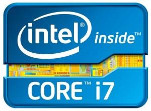 The intel Core i7 proccessor badge