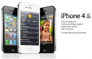 iPhone 4S in black and white