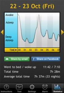 Sleep Cycle iPhone App Screenshot