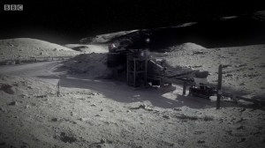 A manufacturing plant on the Moon