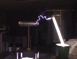 Tesla coil wireless power