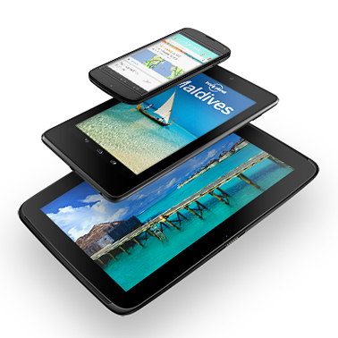 tablets of different sizes from