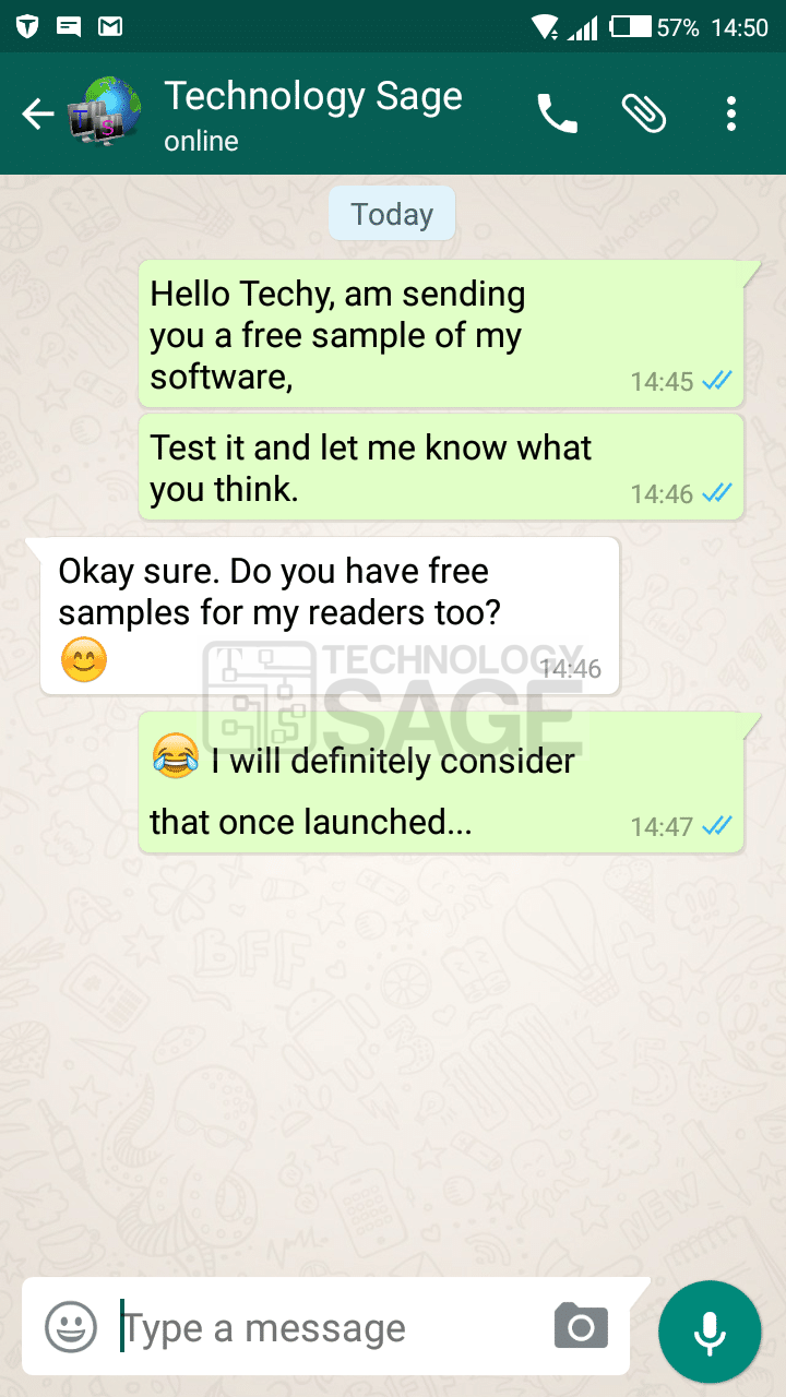 How to create a Fake WhatsApp Chat or Conversation